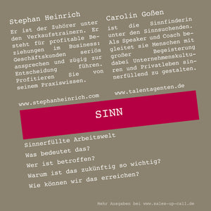 Sinn - Sales-up-Call - Stephan Heinrich
