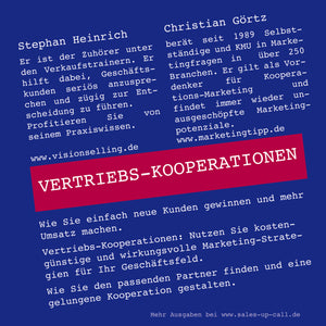 Vertriebs-Kooperationen - Sales-up-Call - Stephan Heinrich
