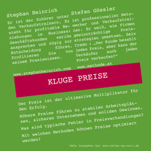 Laden Sie das Bild in den Galerie-Viewer, Kluge Preise - Sales-up-Call - Stephan Heinrich