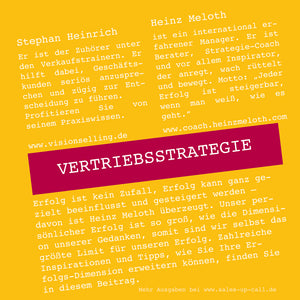 Vertriebsstrategie - Sales-up-Call - Stephan Heinrich
