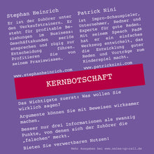Laden Sie das Bild in den Galerie-Viewer, Kernbotschaft - Sales-up-Call - Stephan Heinrich