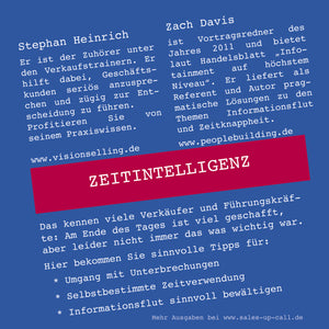 Zeitintelligenz - Sales-up-Call - Stephan Heinrich