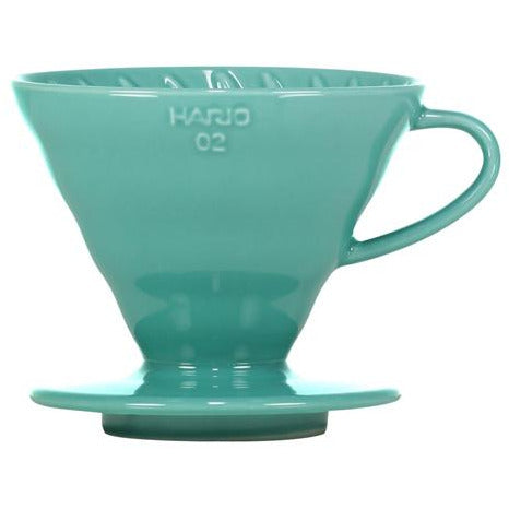 Hario V60 Ceramic Dripper 02 - White and Turquoise