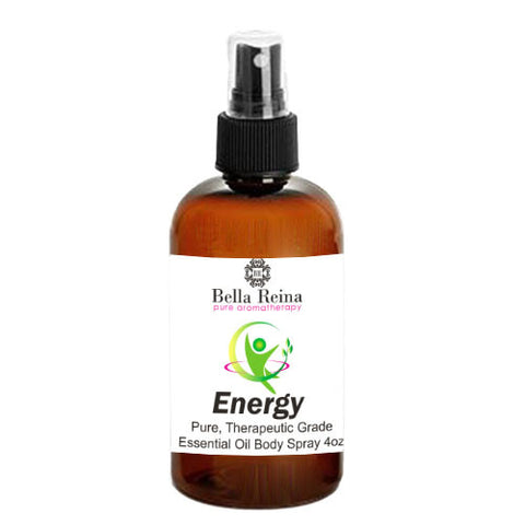 Energy Aromatherapy Body Spray by Bella Reina (4oz)