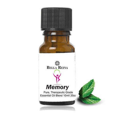 Memory Enhancing Therapeutic Grade Essential Oil Blend by Bella Reina (.35oz)