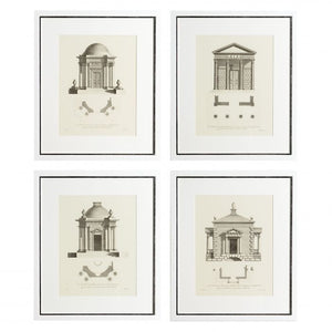 Architectural prints set of 4
