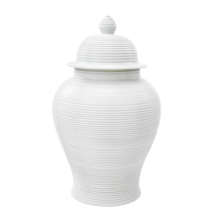 White porcelain jar
