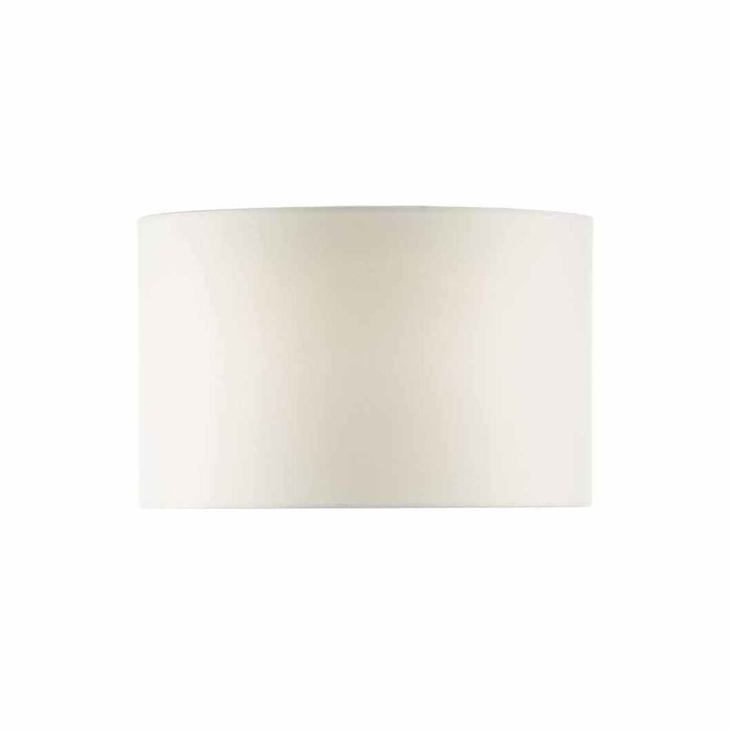 White 46cm Linen Drum Shade