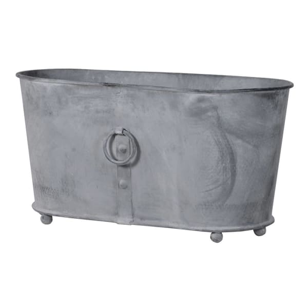 Wrought Iron Oval Planter