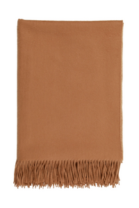 Plain cashmere throw