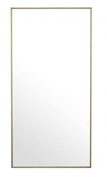 Mirror, brushed brass finish