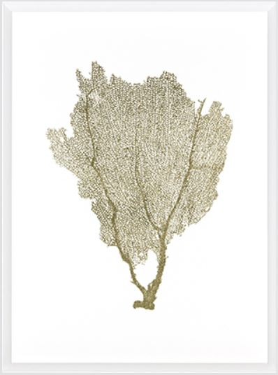 Gold Foil Sea Fan I