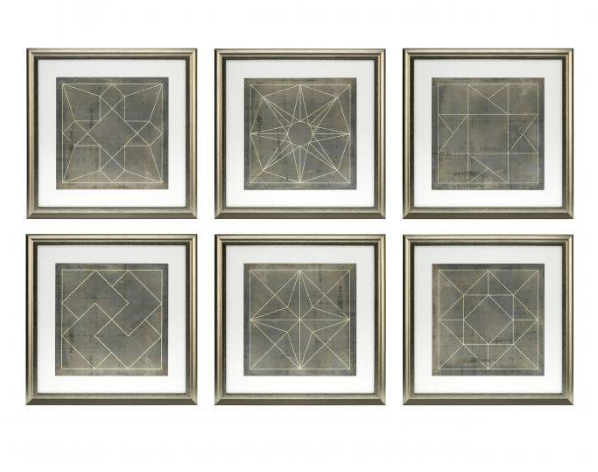 Geometric Blueprints Set of 6