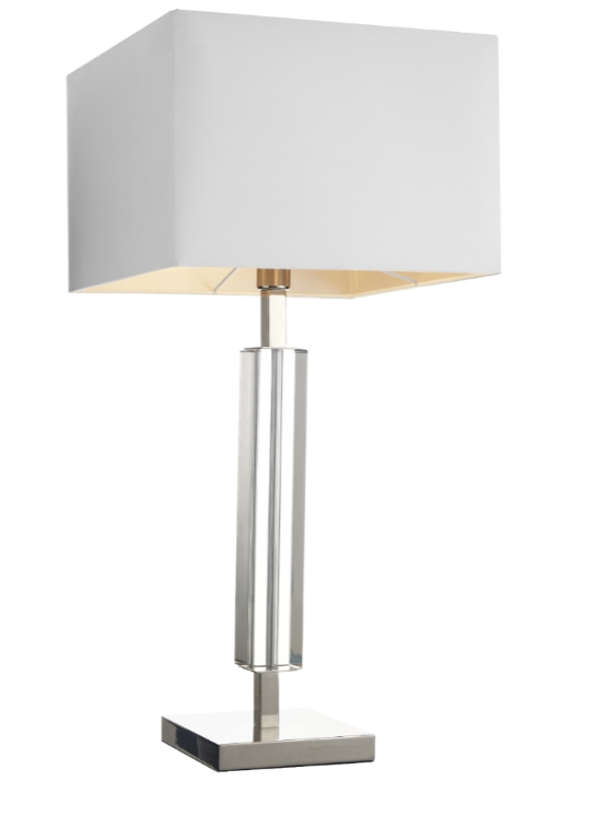 Hades Nickel and Smoke Crystal Table Lamp