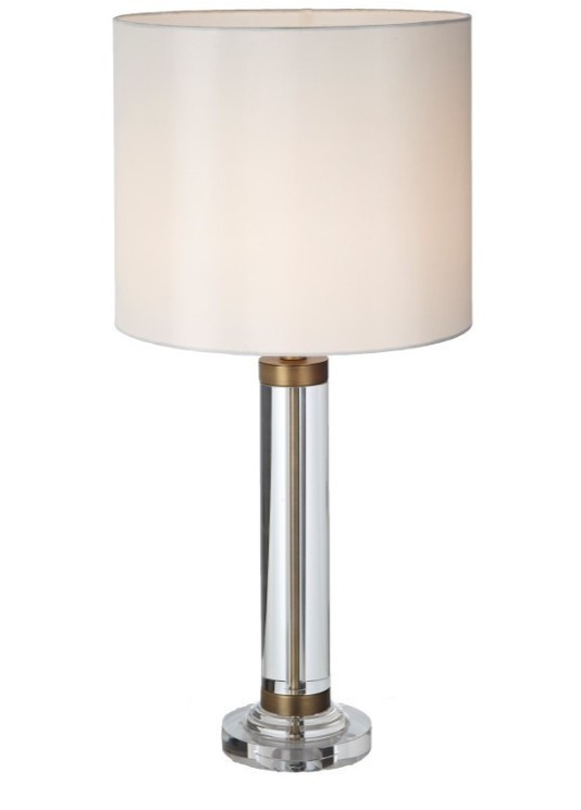Dale Crystal and Antique Brass Table Lamp