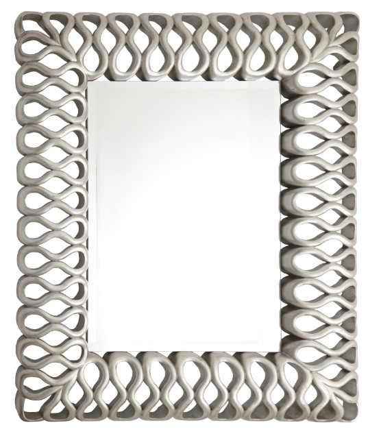 Mont Silver Leaf Finish Mirror
