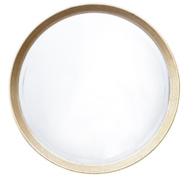 Lana Antique Brass Round Mirror