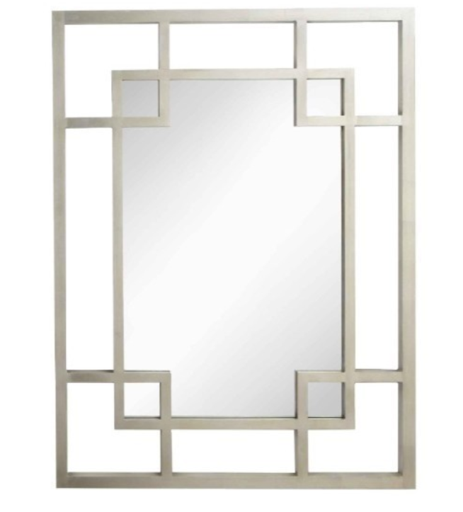 Carn Silver Leaf Rectangle Mirror