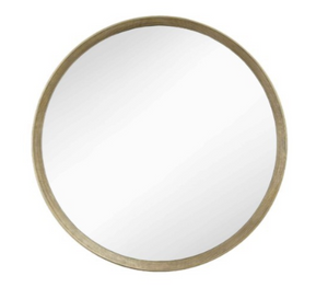 Foyle Distressed Gold Leaf Mirror