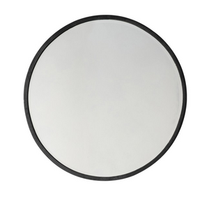 Higgins Round Mirror Black