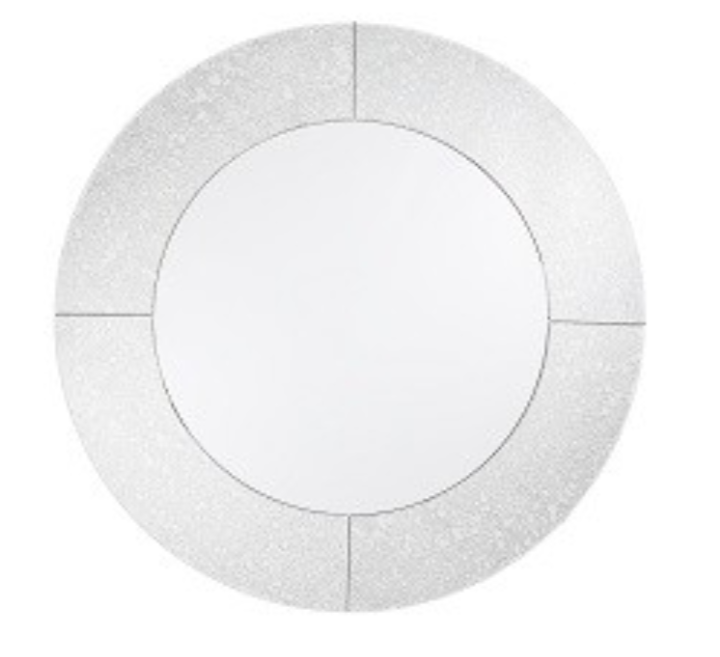Elland, round mirror with antique mirror edge