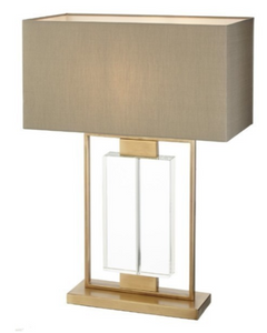 Ryston Table Lamp (Ant Brass & Crystal)