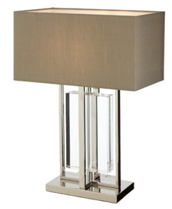 Sarre Nickel and Crystal Table Lamp