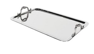 Metal Rope Handles Tray Large