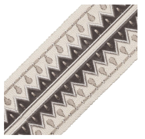 Grey Trim - Uxmal Appliqué Border