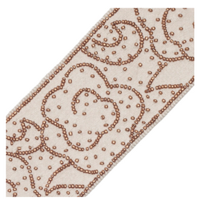 Ochre Trim - Mandarin Cloud Beaded Border