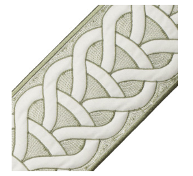 Green Trim - Sheridan Embroidered Border