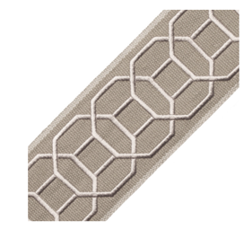 Taupe Trim - Sakiori Embroidered Border