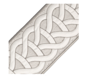 Taupe Trim - Sheridan Embroidered Border