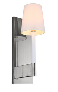 Tallis Wall Lamp In Gun Metal Finish