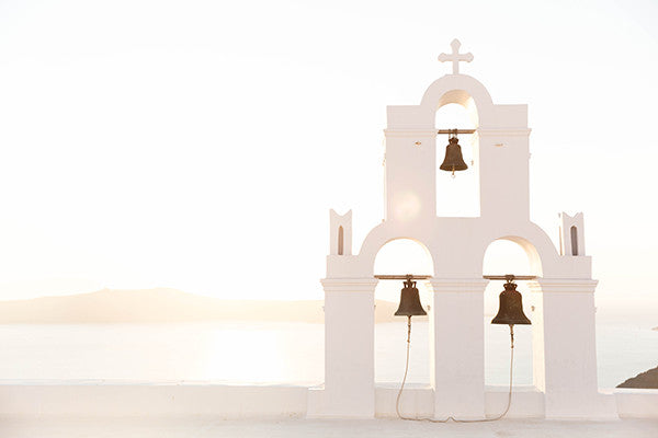 Santorini Print, Home Decor, Gallery Wall, Annawithlove Shop, Taken at sunset on a rooftop in the beautiful island of Santorini, Greece.  This print embodies a feeling of calmness and for this reason it's named 'Evlogimeni' which translates to 'Blessed'