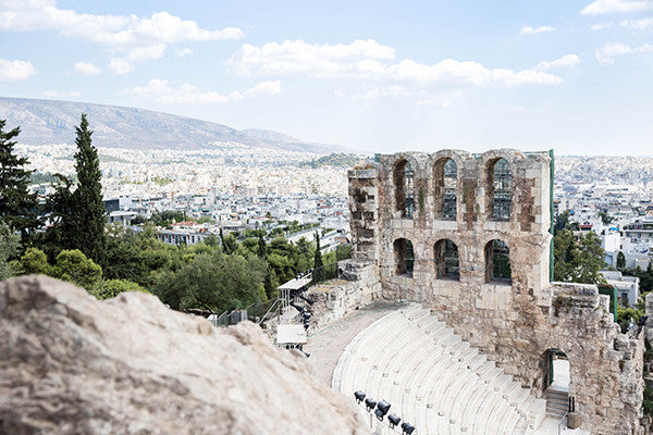Annawithlove Shop, Greece Print, Photography Print overlooking Athens, Greece.  Athens is the capital of Greece.  Rich in both beauty and history this is an ancient theatre near the Parthenon.