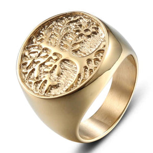 Yggdrasil Nine Worlds Viking Amulet Ring