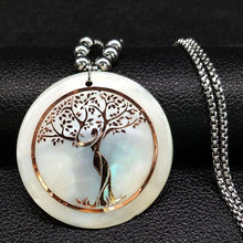 Charger l'image dans la galerie, White Shell Tree of Life Necklace