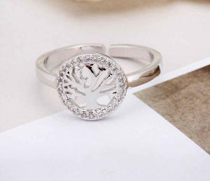 Freya Crystal Tree of Life Ring