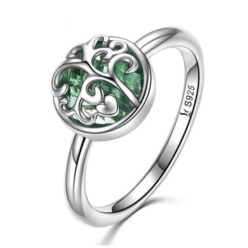 Evergreen Tree of Life Ring