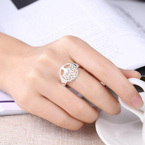 Arianrhod Silver Tree of Life Ring
