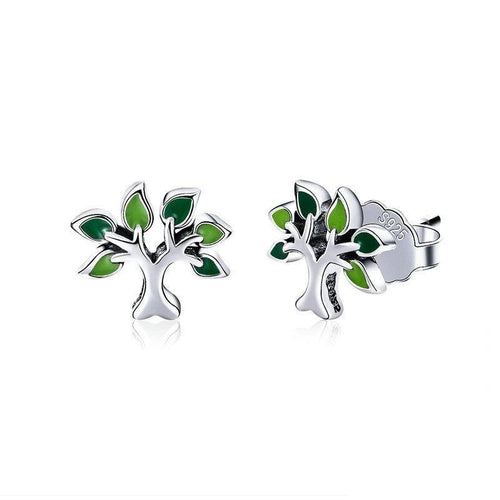 Evergreen Tree of Life Earring