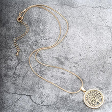 Charger l'image dans la galerie, Almighty Tree of Life Circle Pendant