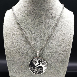Yin and Yang Tree of Life Pendant