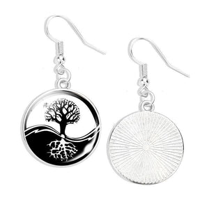Yin and Yang Tree of Life Earring