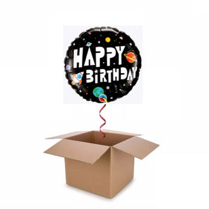 Spaceman & Planets Happy Birthday Balloon In A Box