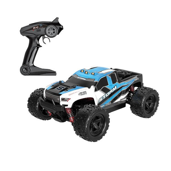 1:18 Storm Blue RC 4WD Car