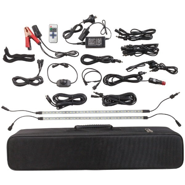2000 Lumen 4 Bar LED Camping Kit