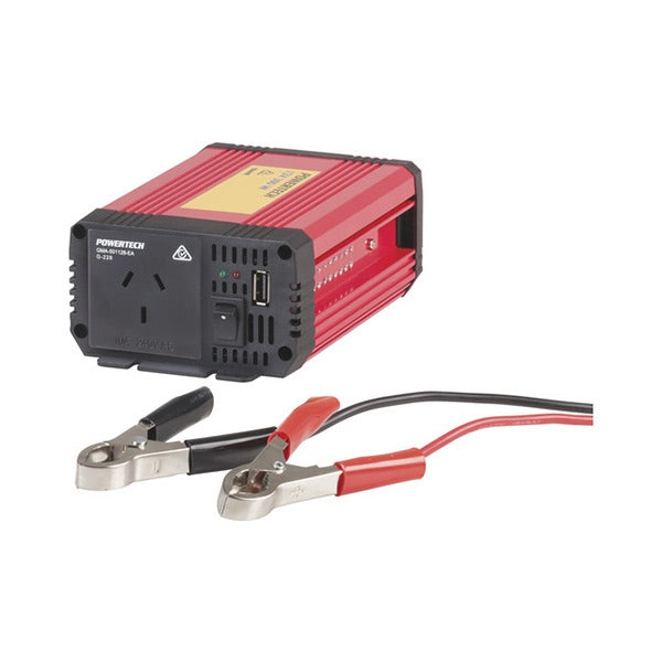 POWERTECH 300W (1000W) 12VDC to 230VAC Modified Sinewave Inverter with USB