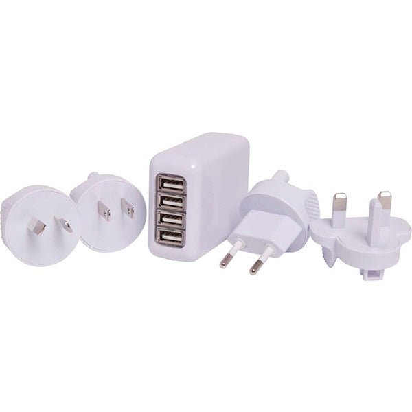 4.1A 4X USB Smart Charger & Travel Adaptor